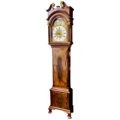 Rare Haig & Chippendale Geo. III 8-day, Hour Strike Longcase Grandfather Clock