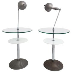 Rare Pair of Lamp Tables by Fontana Arte
