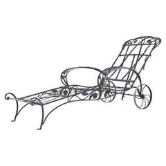 Rare Salterini Della Robbia Collection Wrought Iron Lounge Chair, No 2