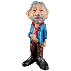 Rare Statue Figurine Effigie Caricature of Serge Gainsbourg