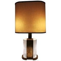 Rare Table Lamp Signed Gabriella Crespi