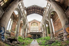 """Divine"", Rebecca Skinner, abandoned church, metal print, color photograph"