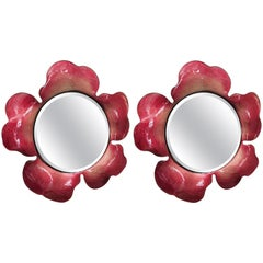 Red Flower Mirrors