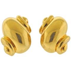 Rene Boivin France Gold Earrings