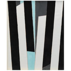 René Gaston Lagorre French Abstract Modern Painting, 1976