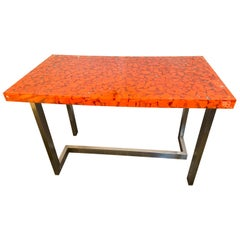 Resin Fractal Inclusion Console Table Desk by Thomas Brant, France, 2014