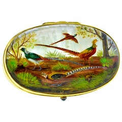 Reverse Painting under Crystal Gold Box, circa 1890