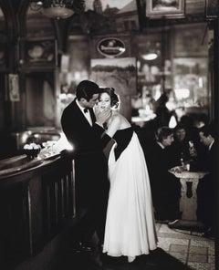 Suzy Parker & Gardner McKay, Dress by Balmain, Café des Beaux-Arts, Paris, 1956