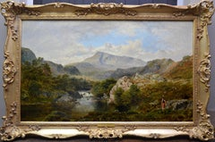 The Heron Pool - 19th Century Welsh Landscape Oil Painting 1874