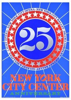 New York City Center 25th Anniversary - Original Screen Print Hand Signed - 1968