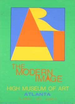 "Robert Indiana-Atlanta-ART-35"" x 25""-Serigraph-1972-Pop Art-Green, Multicolor"