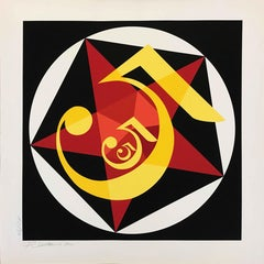"""Robert Indiana """"Demuth 5""""; 2001; Silkscreen; 36 x 36 inches; Edition of 50"""