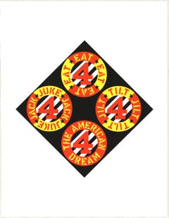 """Robert Indiana-The Beware-Danger American Dream #4-22"""" x 17""""-Serigraph-1997-Pop"""