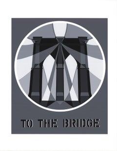 "Robert Indiana-To the Bridge (Brooklyn Bridge)-22"" x 17""-Serigraph-1997-Pop Art"