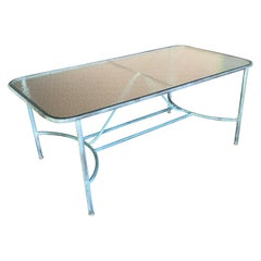 Robert Lewis Patinated Bronze Outdoor Dining Table, 20th Century