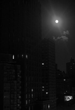 Chiaroscuro Snow Moon, New York City, Contemporary Landscape Photography
