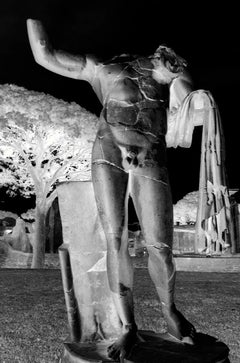 Nude Male Statue, Rome, Italy, Contemporary Color Photography of Antiquities