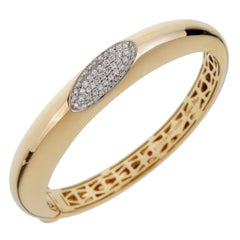 Roberto Coin Capri Diamond Yellow Gold Bangle Bracelet
