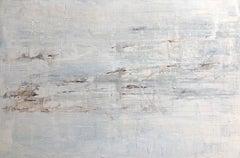 """1343 Discreet White Blue""  Part2, Minimalism Painting, 21st Century, Acrylic"