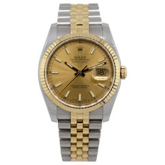 Rolex 116233 Datejust Two-Tone Silver Dial Watch