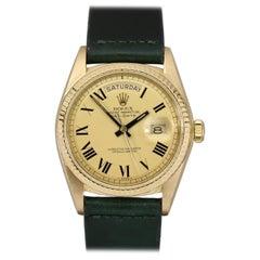 Rolex 18 Karat Gold Buckley Dial Day-Date Ref. 1803 Men's Wristwatch, circa 1974