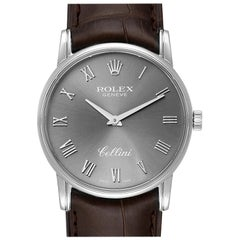 Rolex Cellini Classic Slate Dial 18 Karat White Gold Men's Watch 5116