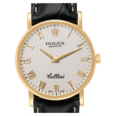 Rolex Cellini Classic Yellow Gold Anniversary Dial Men's Watch 5115