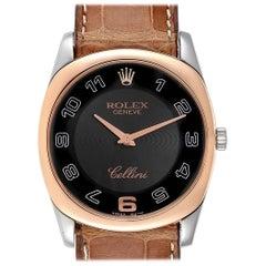 Rolex Cellini Danaos White Rose Gold Men's Watch 4233 Box Papers