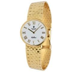 Rolex Cellini Ladies Wrist Watch, 18 Karat Gold, Manual Winding