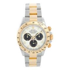 Rolex Cosmograph Daytona Men's Steel and Gold Watch 116523 Panda Dial