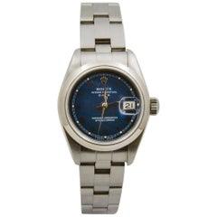Rolex Date Blue Roman Dial 69160