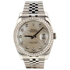 Rolex Datejust 116244, White Dial, Certified and Warranty