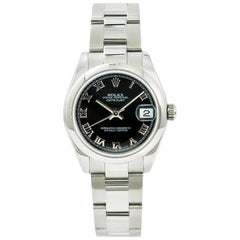 Rolex Datejust 178240, Black Dial, Certified and Warranty and Box