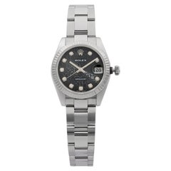 Rolex Datejust 31 Stainless Steel Diamond Jubilee Black Dial Ladies Watch 178274
