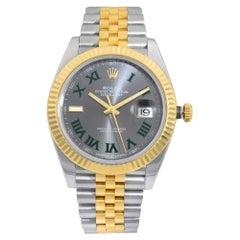 Rolex Datejust 41 Steel Gold Wimbledon Slate Dial Automatic Men Watch 126333GYRJ