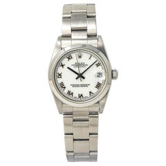 Rolex Datejust 68240, White Dial, Certified and Warranty
