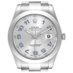 Rolex Datejust II Blue Numerals Steel Men's Watch 116300 Box