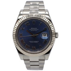 Rolex Datejust II Stainless Steel 116334 Blue Index with Box