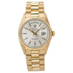 Rolex Day-Date 1802, Gold Dial, Certified and Warranty