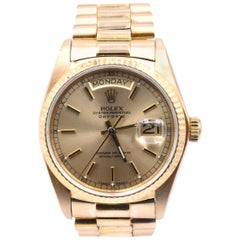 Rolex Day-Date President 18 Karat Yellow Gold Watch Ref. 18038