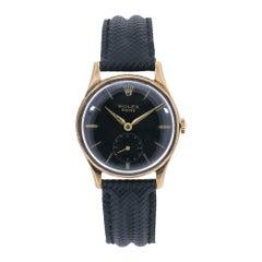 Rolex Dennison 12868, Black Dial, Certified and Warranty