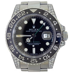 Rolex GMT-Master 116710 Ceramic Black Bezel Steel with Diamonds Watch 'R-78'