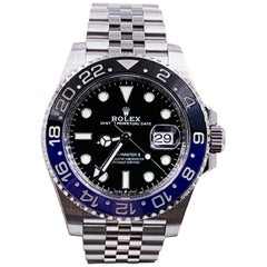 Rolex GMT Master II 126710BLNR Batman Black Blue Stainless Box Papers