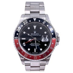 Rolex GMT Master II 16710 Red and Black Coke Stainless Box Booklets Unpolished