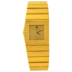 Rolex King Midas 9630, Gold Dial, Certified and Warranty