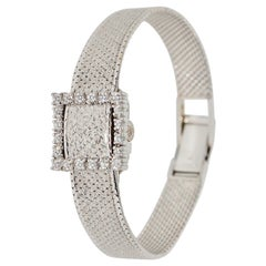 Rolex Precision Ladies Wristwatch, 18 Karat White Gold, with Diamonds