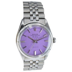 Rolex Steel Oyster Perpetual Air King Custom Purple Dial, From 1966