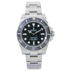 Rolex Submariner 114060, Black Dial, Certified and Warranty