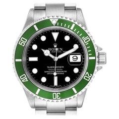 Rolex Submariner 50th Anniversary Green Kermit Men's Watch 16610LV