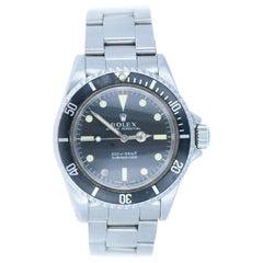 Rolex Submariner 5513 1969 Meters First Vintage Stainless Men's Watch